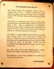 Dampffahrrad, Beschreibung des Erfinders