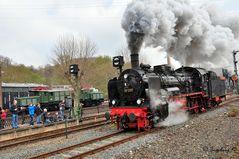 Dampflok 38 2267 - 35 Jahre Eisenbahnmuseum in Bochum am 13.4.2012