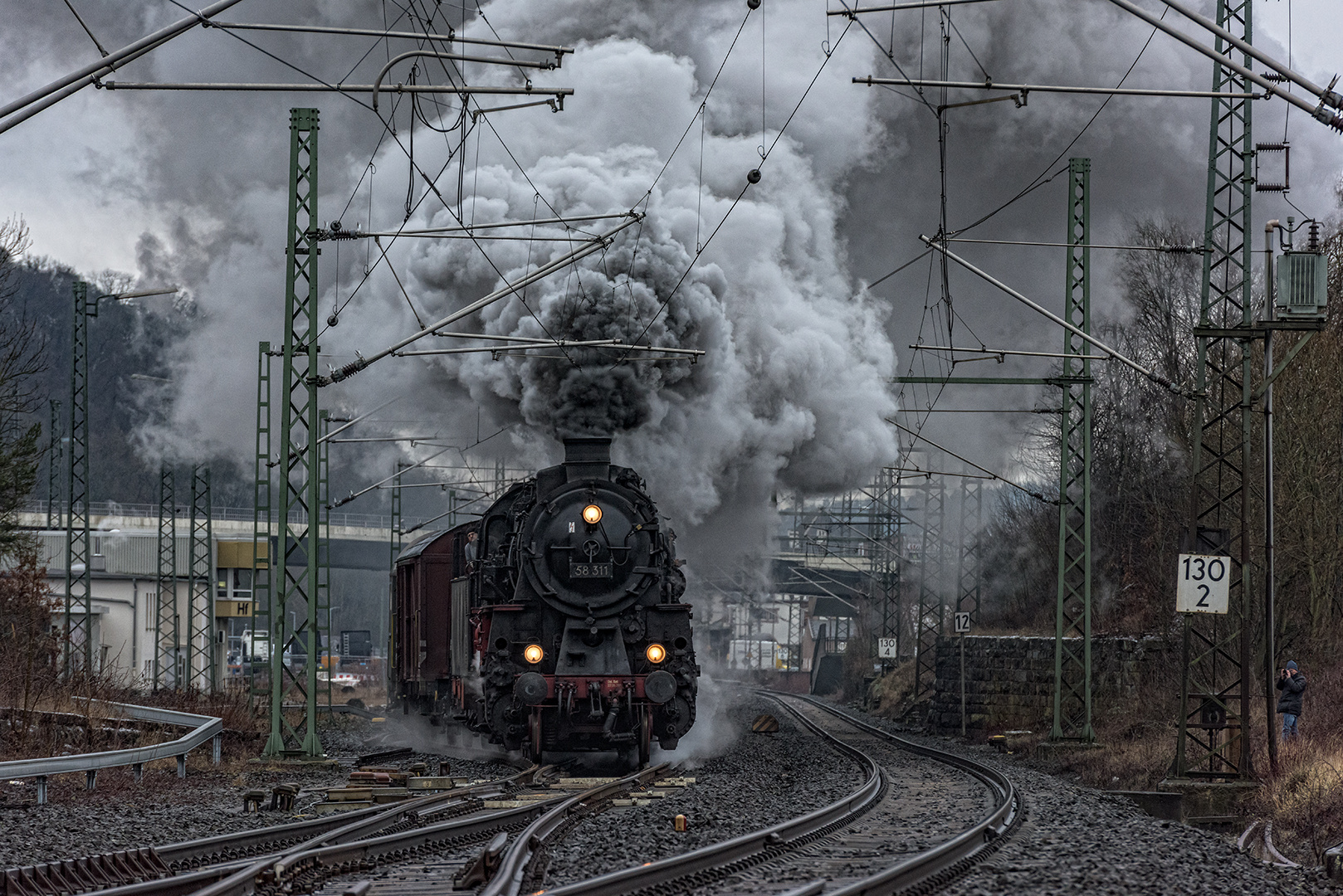 Dampflok 58 311 verlässt Herborn
