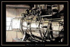 Dampflok im Profil