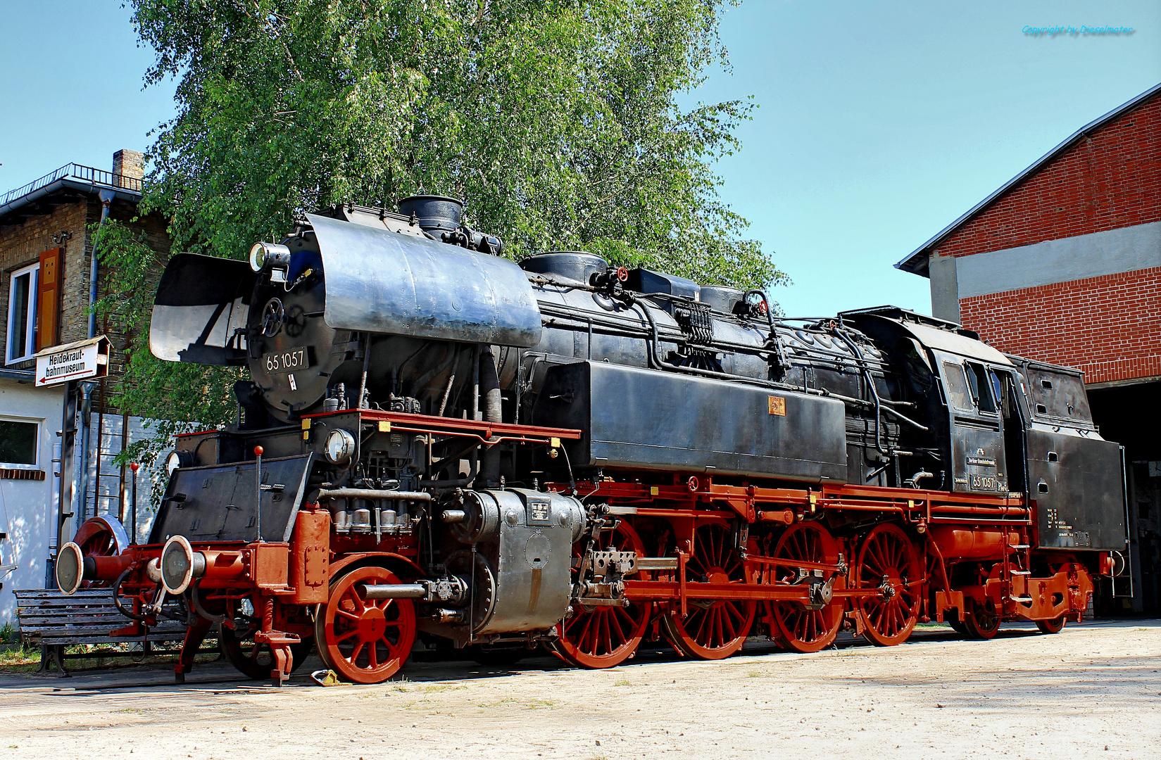 Dampflokomotive 65 1057 Der Berliner Eisenbahnfreunde In Basdorf