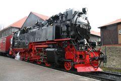 Dampflokomotive 997234-0 vor Abfahrt im Bhf Wernigerode