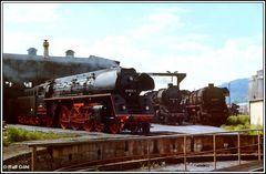 Dampflokparade in der Einsatzstelle Göschwitz