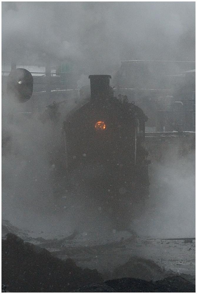 Dampfloks im Winter VI