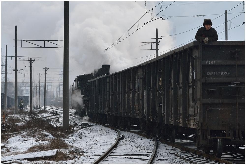 Dampfloks im Winter VII