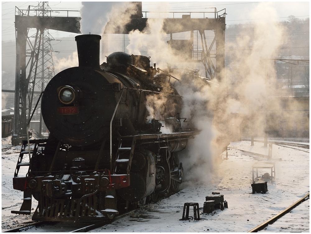 Dampfloks im Winter VIII