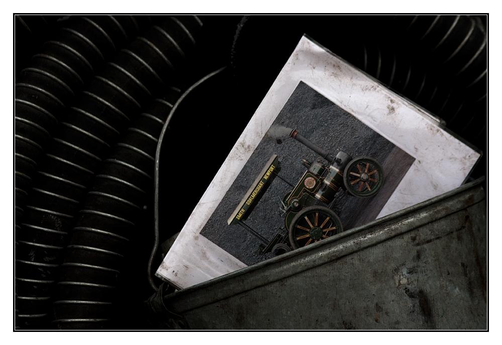 Dampfmaschine im Eimer