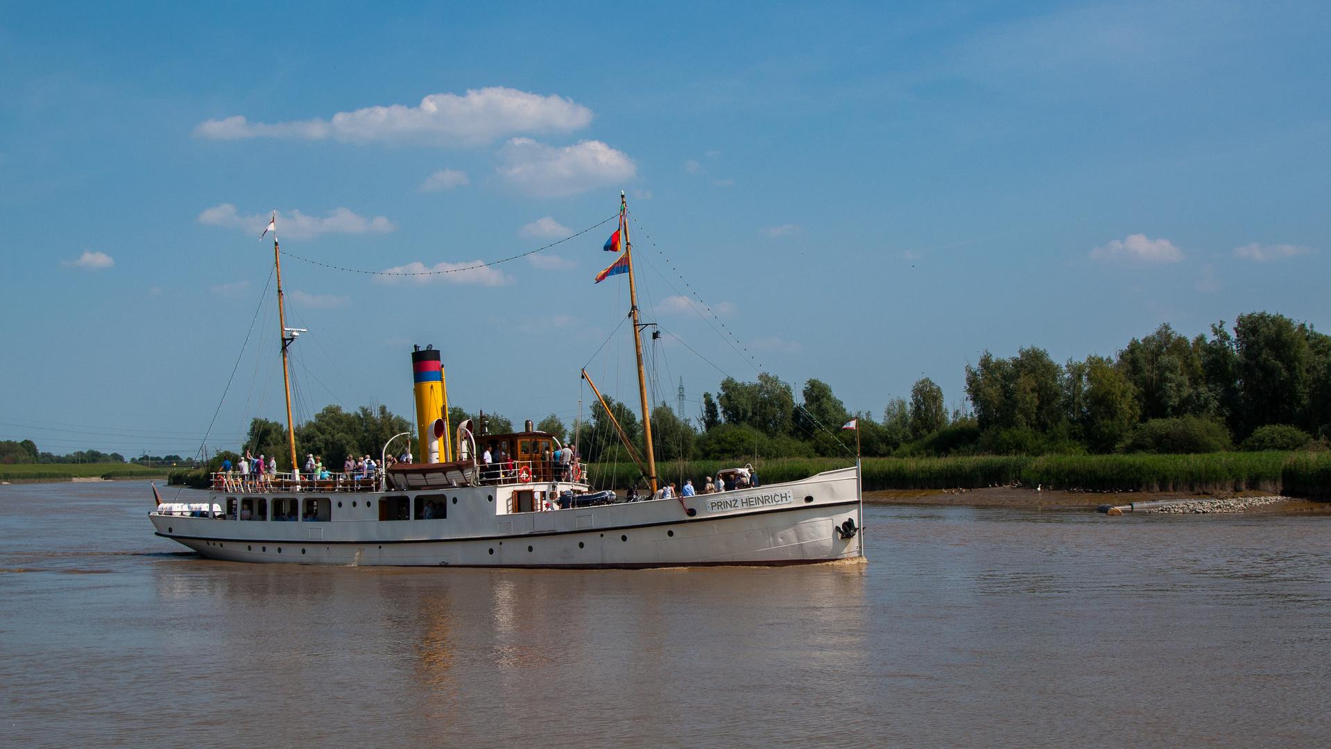 Dampfschiff Prinz Heinrich Auf Der Leda Foto Bild Schiffe