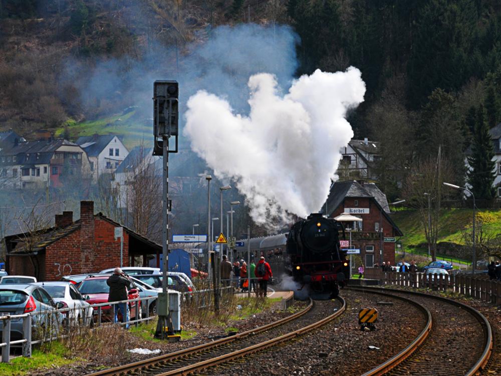 Dampfspektakel, Ostern 2010 in der Eifel