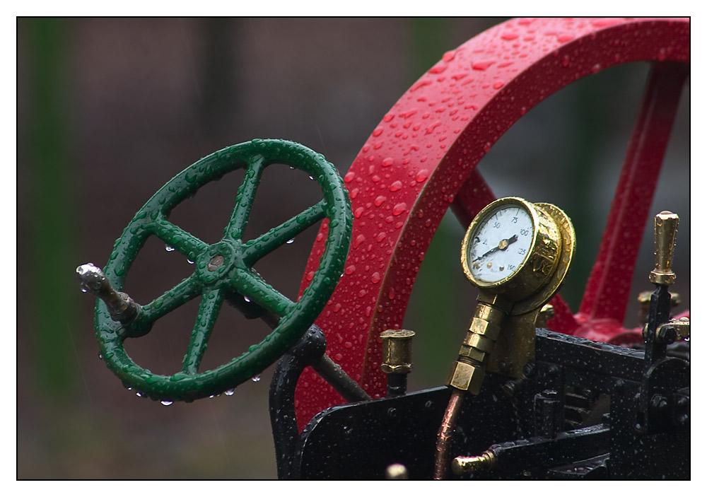 Dampftraktor Detail
