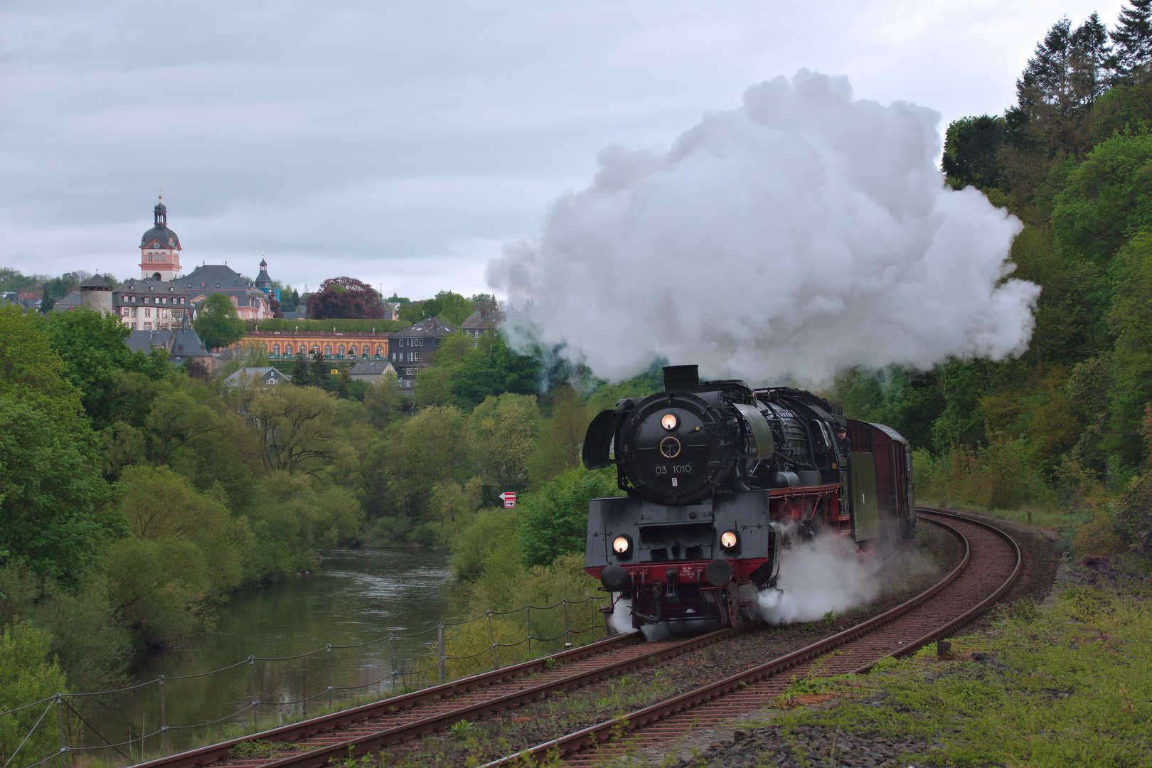 Dampfwolken in Weilburg
