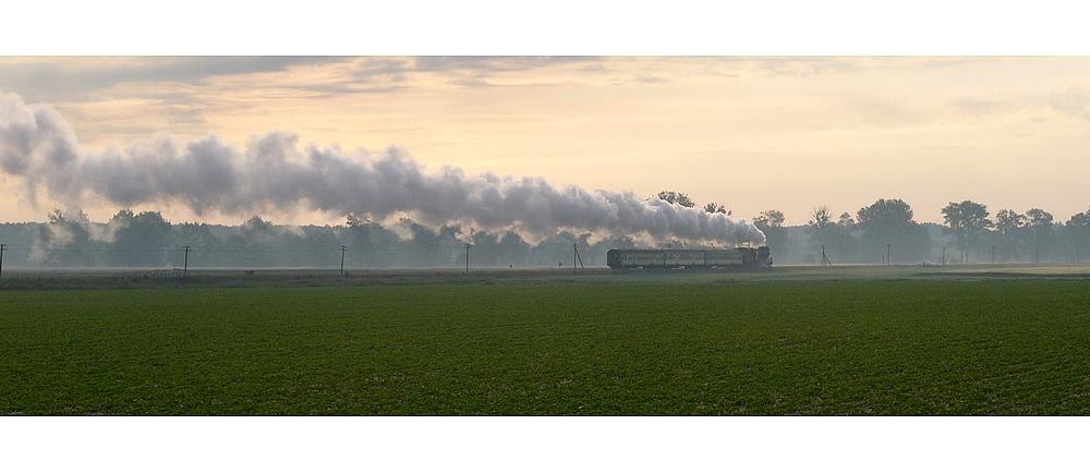 Dampfzug am Morgen