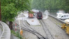 Dampfzug der Pinienzapfenbahn