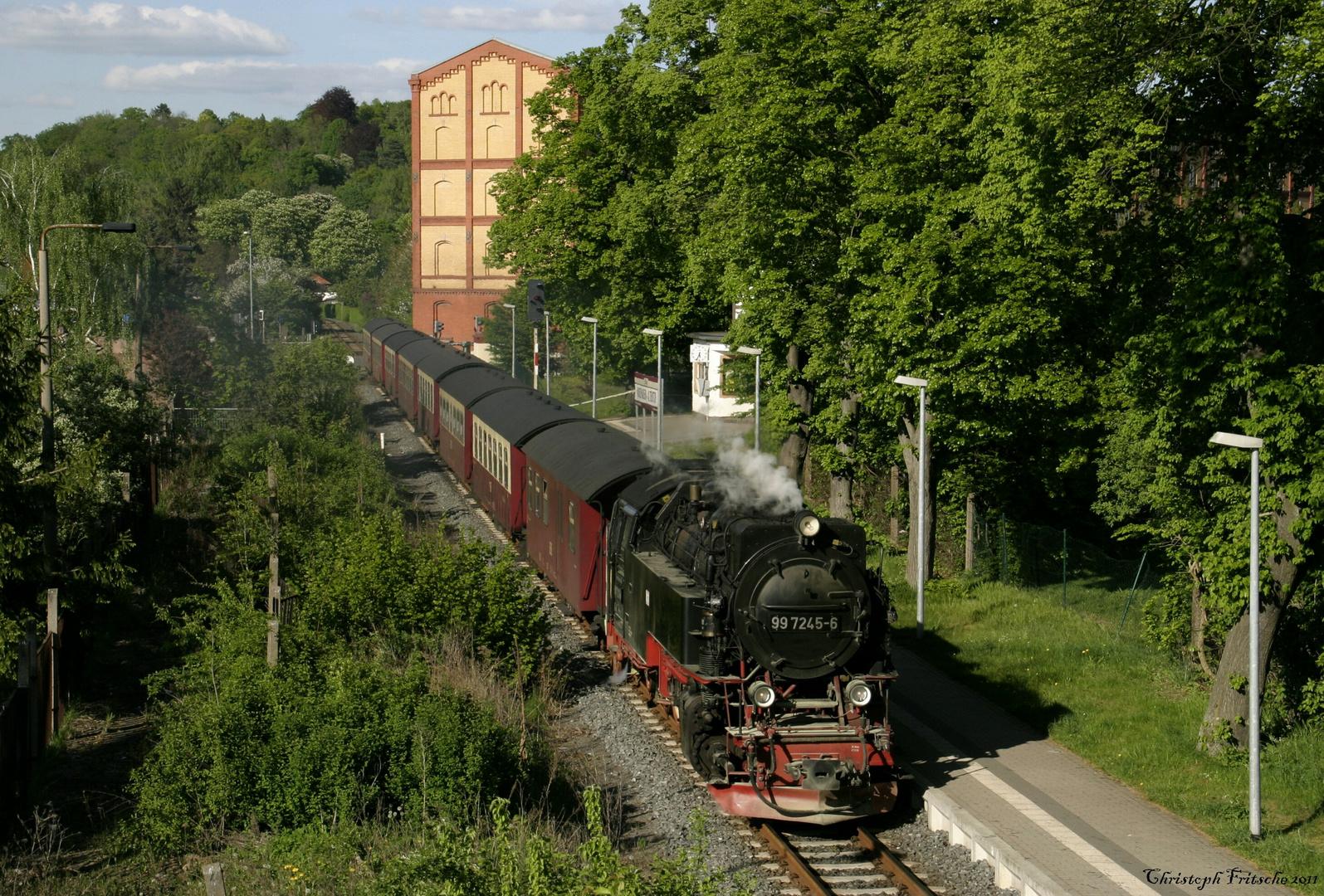 Dampfzug zum 1.Mai