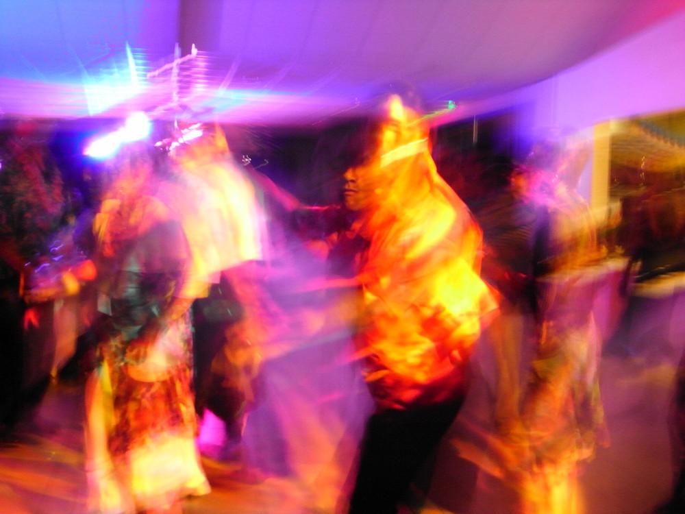 dancefloor in multicolors