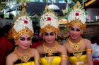 Dancing girls waiting for their performance