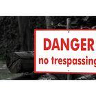 Danger! No trespassing