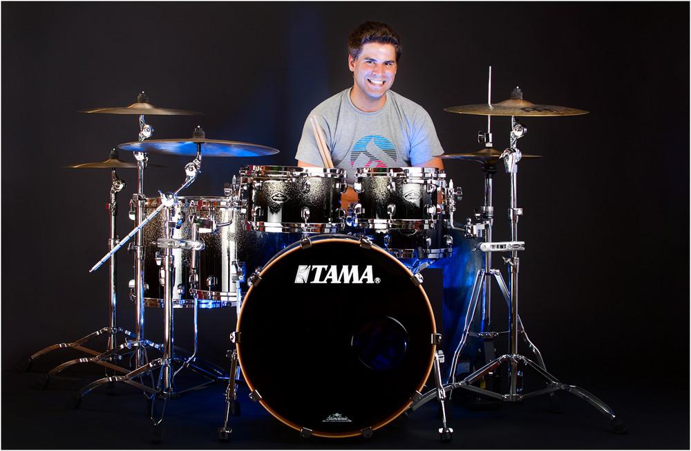 Daniel Heilig an TAMA drum