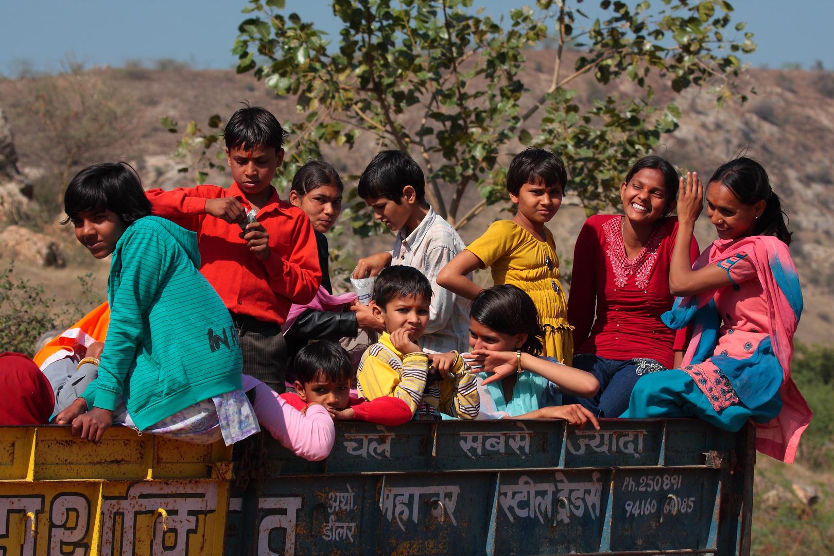 Dans la campagne du Rajasthan.