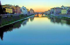 Dans le bleu de l'Arno