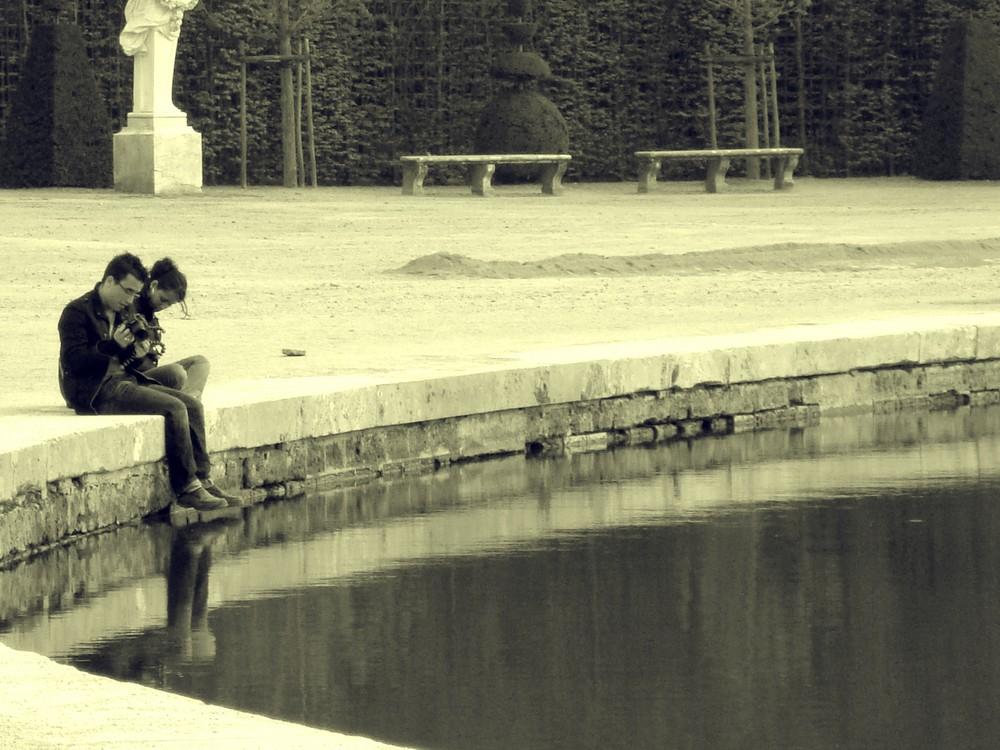 Dans les Jardins de Versailles...