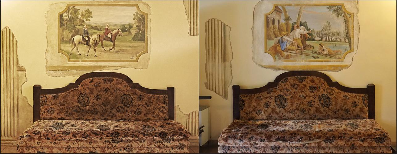 Dans un salon de la Villa Crine  --  Valpolicella