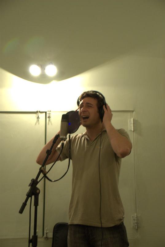 Dario grabado en el estudio de Denis Lozar