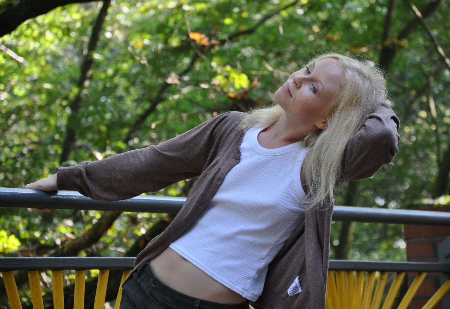 Darja auf der Brücke