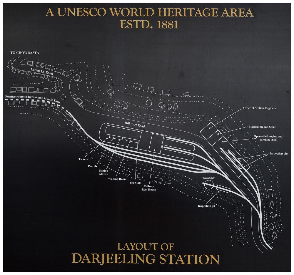 Darjeeling - Gleisplan