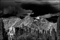 dark clouds over Ladakh