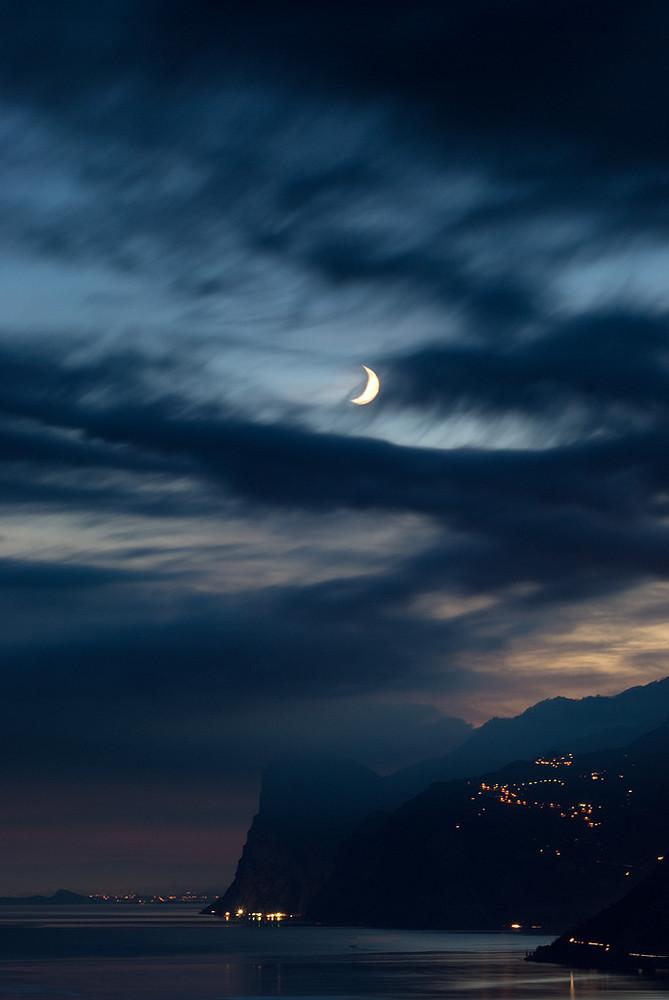 Dark Garda lake, Trentino