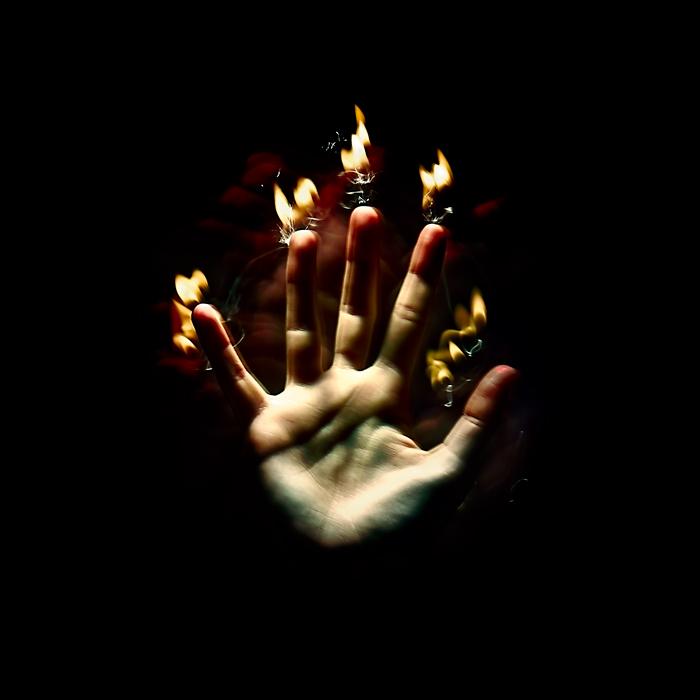 Dark hand.