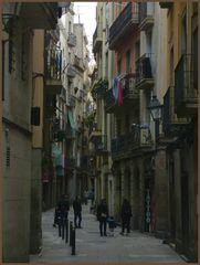 "+++ Dark street at ""El Born"" in Barcelona +++"