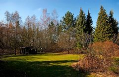 Das 1. März Wetter auf der Gartenterrasse ....