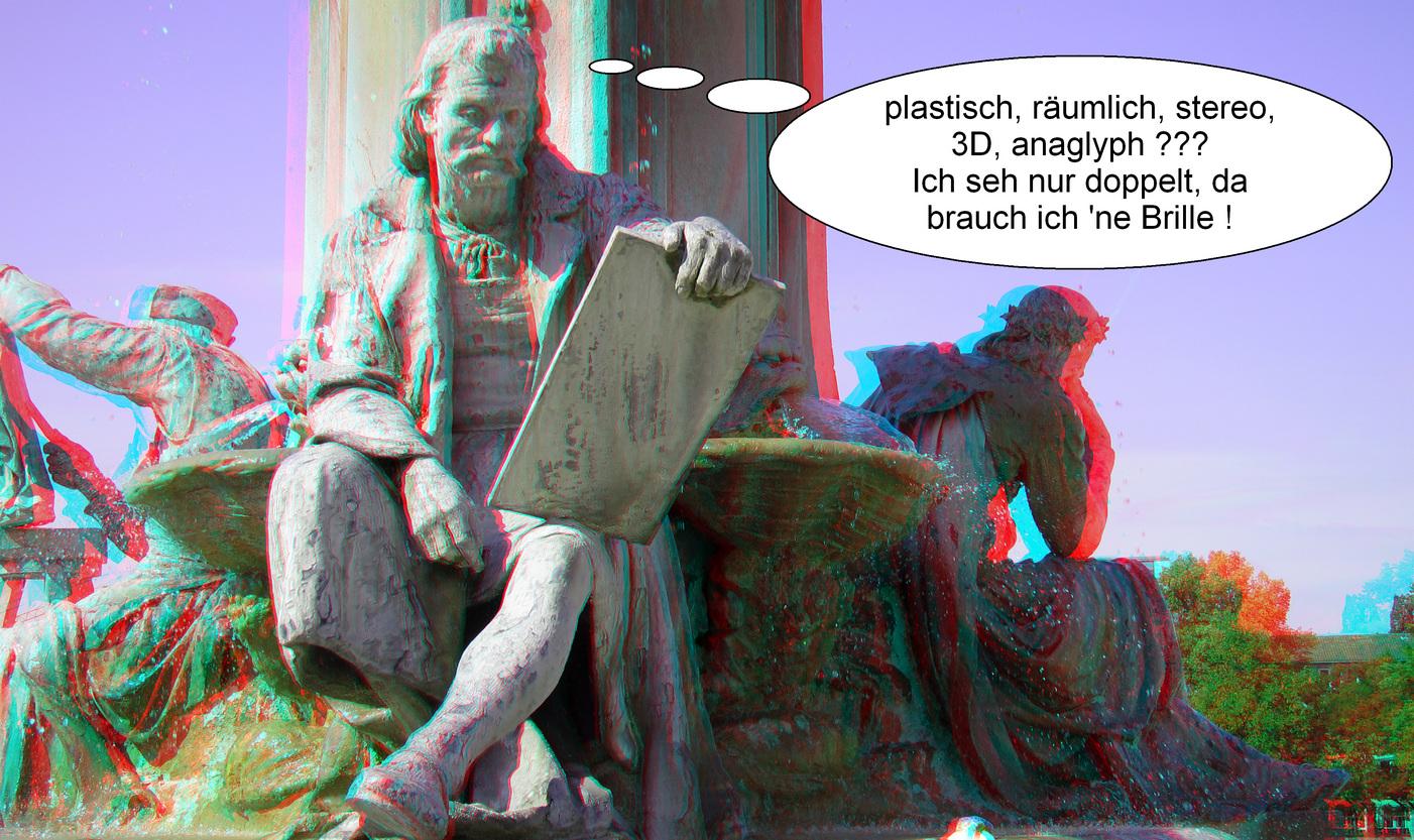 das 3D-Bild (3D-Foto)
