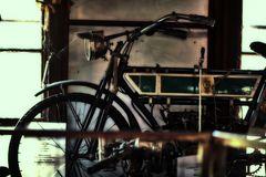 das alte NSU Motorrad