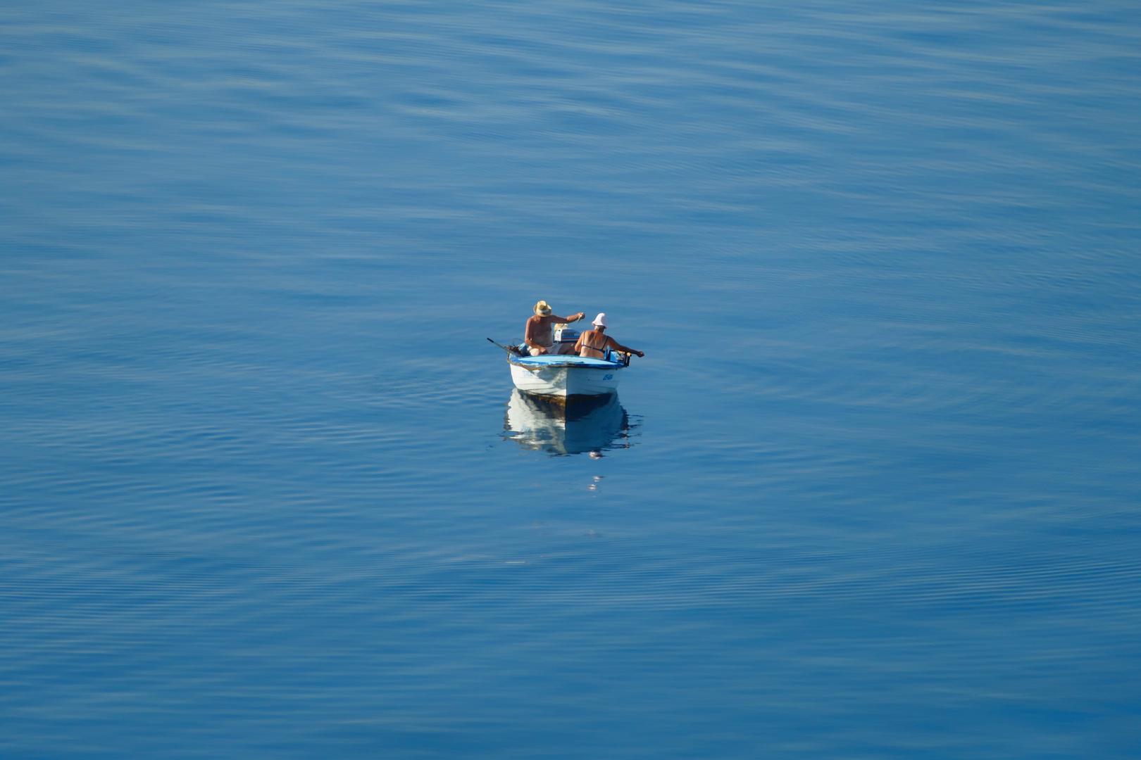das alte Paar und das Meer