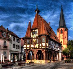 Das alte Rathaus von Michelstadt/Odw.