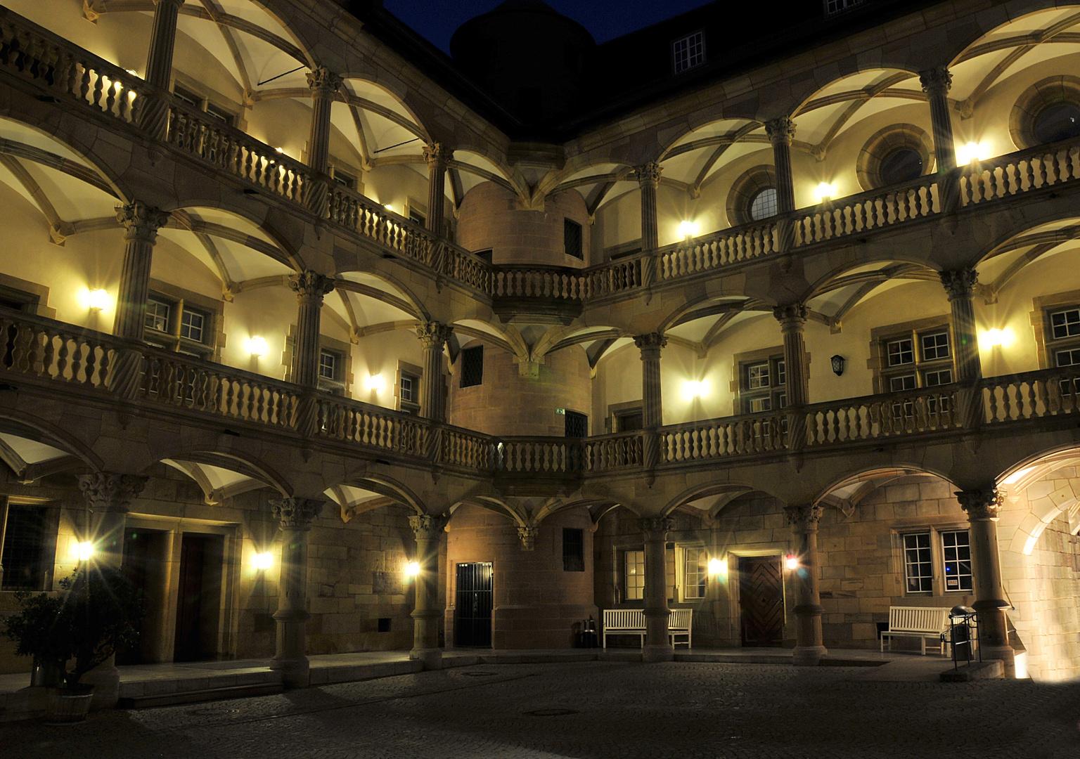 Das Alte Schloss in Stuttgart Nachtimpression