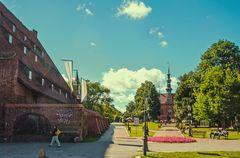 Das Altstätische Rathaus und (links) die Große Mühle