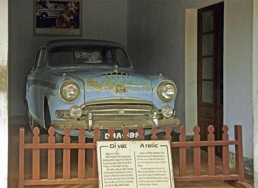 Das Auto des Mönches Thich Quang Duc