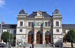 Das Bahnhofsgebäude von Altenburg