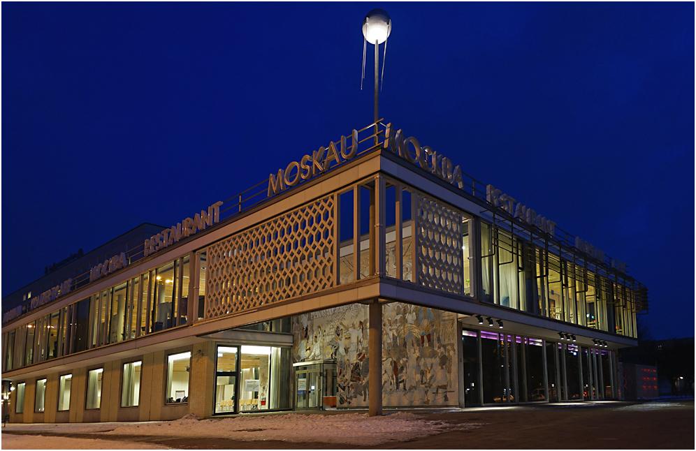 Das Berliner Café Moskau zur Blauen Stunde
