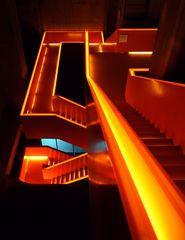 Das berühmte Treppenhaus in der Zeche Zollverein / Ruhrmuseum