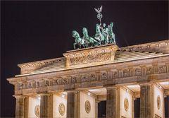 Das Brandenburger Tor am 2. Januar 2016,  7.55 Uhr