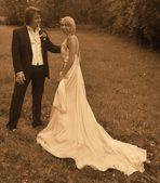 das Brautpaar...