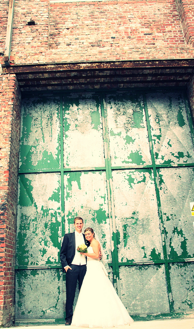 das Brautpaar (am Textilmuseum)