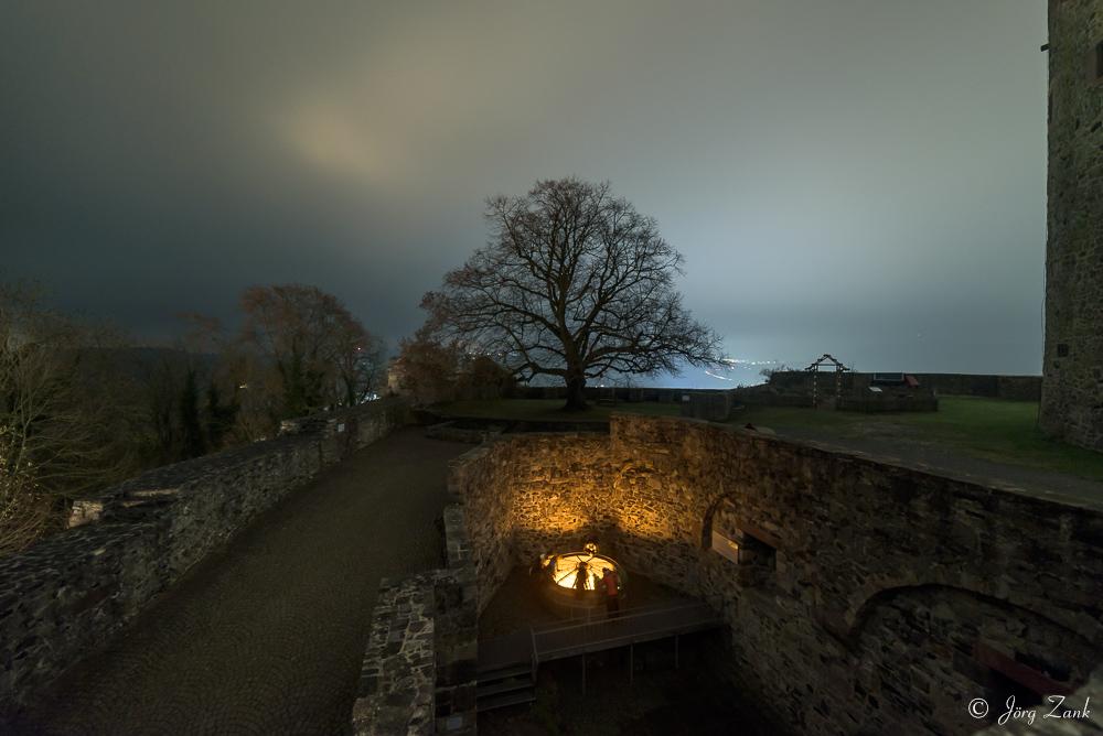 Das Brunnenhaus am Abend