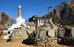 Das buddhistische Kloster von Tengpoche auf 3860 m Höhe