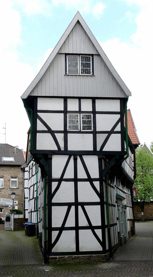 Das Bügeleisen Haus in Hattingen Foto & Bild